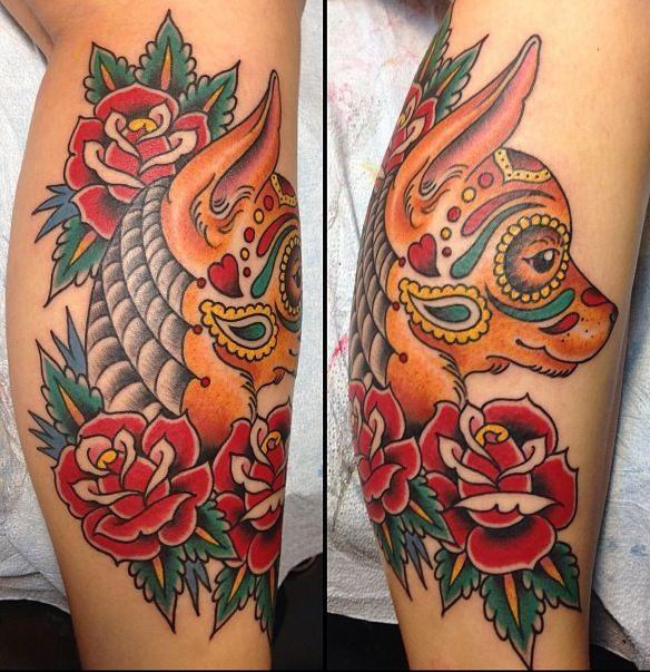 Traditional chihuahua traditional americana tattoos for Traditional americana tattoos