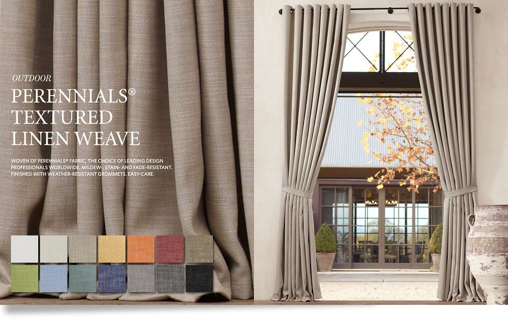 Curtains ideas aina curtains inspiring pictures of for Restoration hardware window shades
