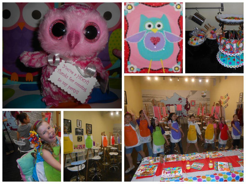 Paint Birthday Party Ideas Pinterest