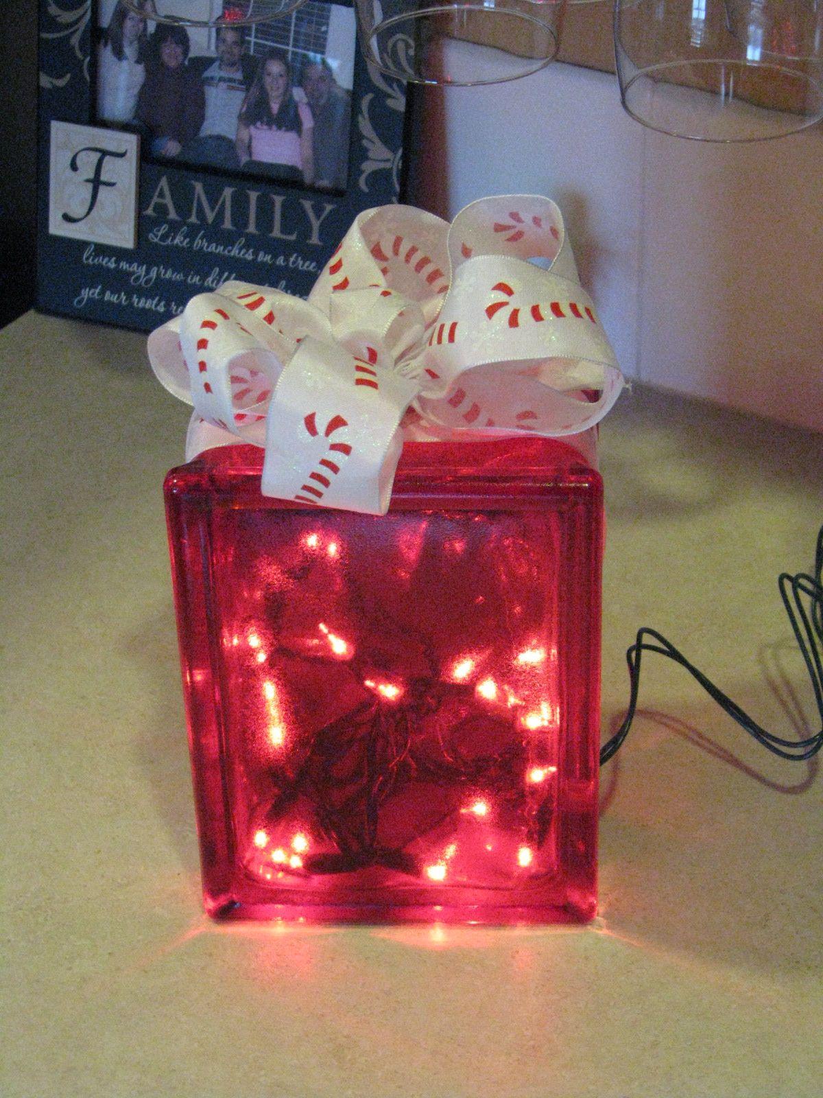 Christmas light box | Christmas | Pinterest
