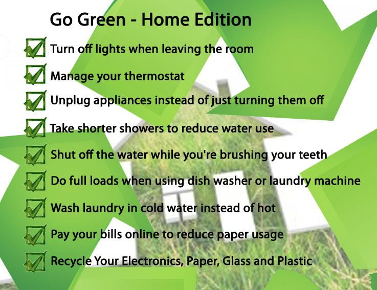 Go green tips for home eco friendly go green pinterest - Eco friendly ideas ...