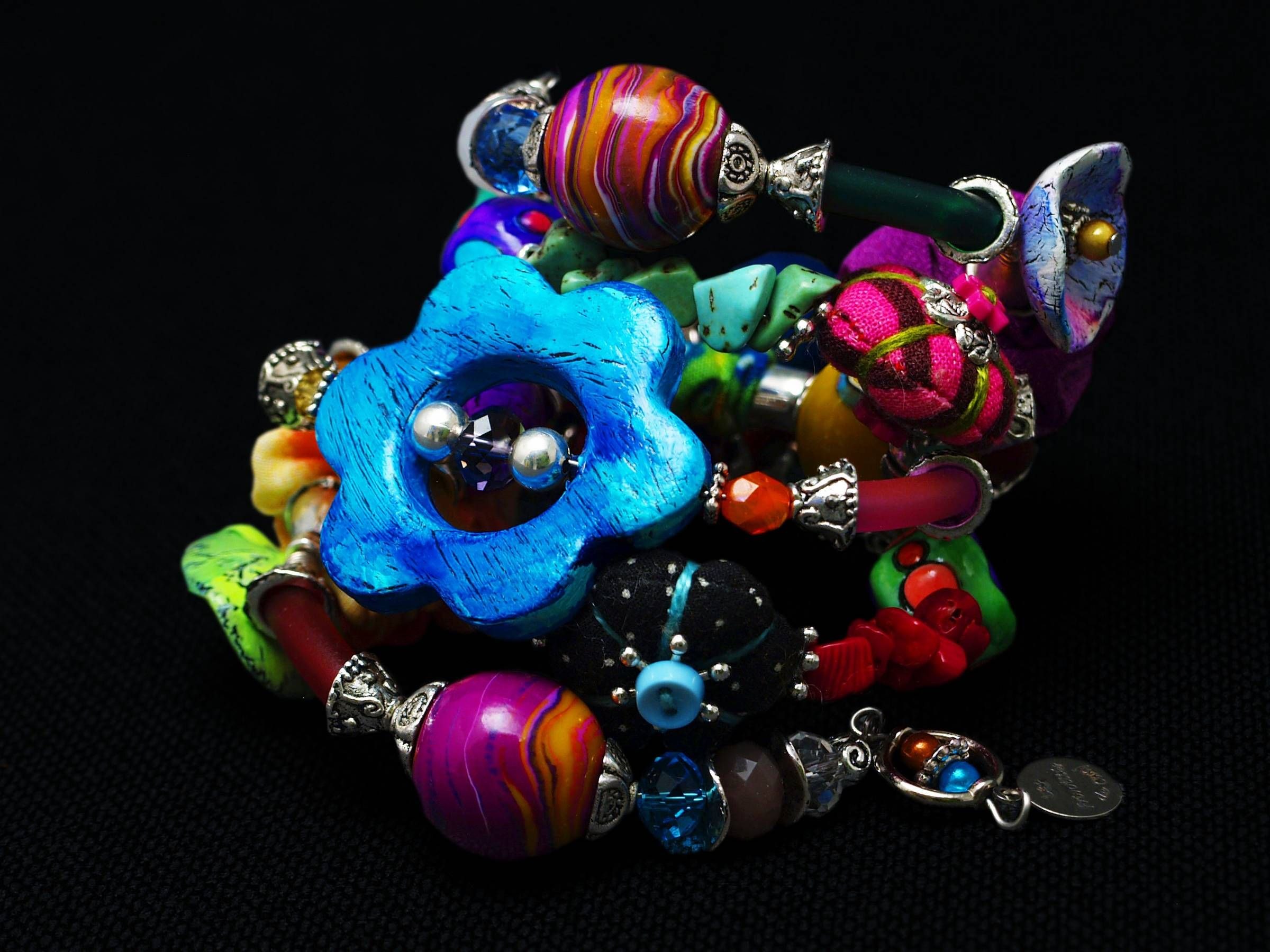 Bracelet MEMORY | clay polymer and tutorials | Pinterest