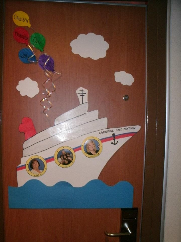 Cruise Door Decorations Disney Pinterest