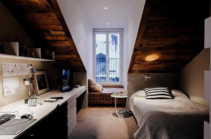 Attic Bedroom And Office Small Spaces Pinterest