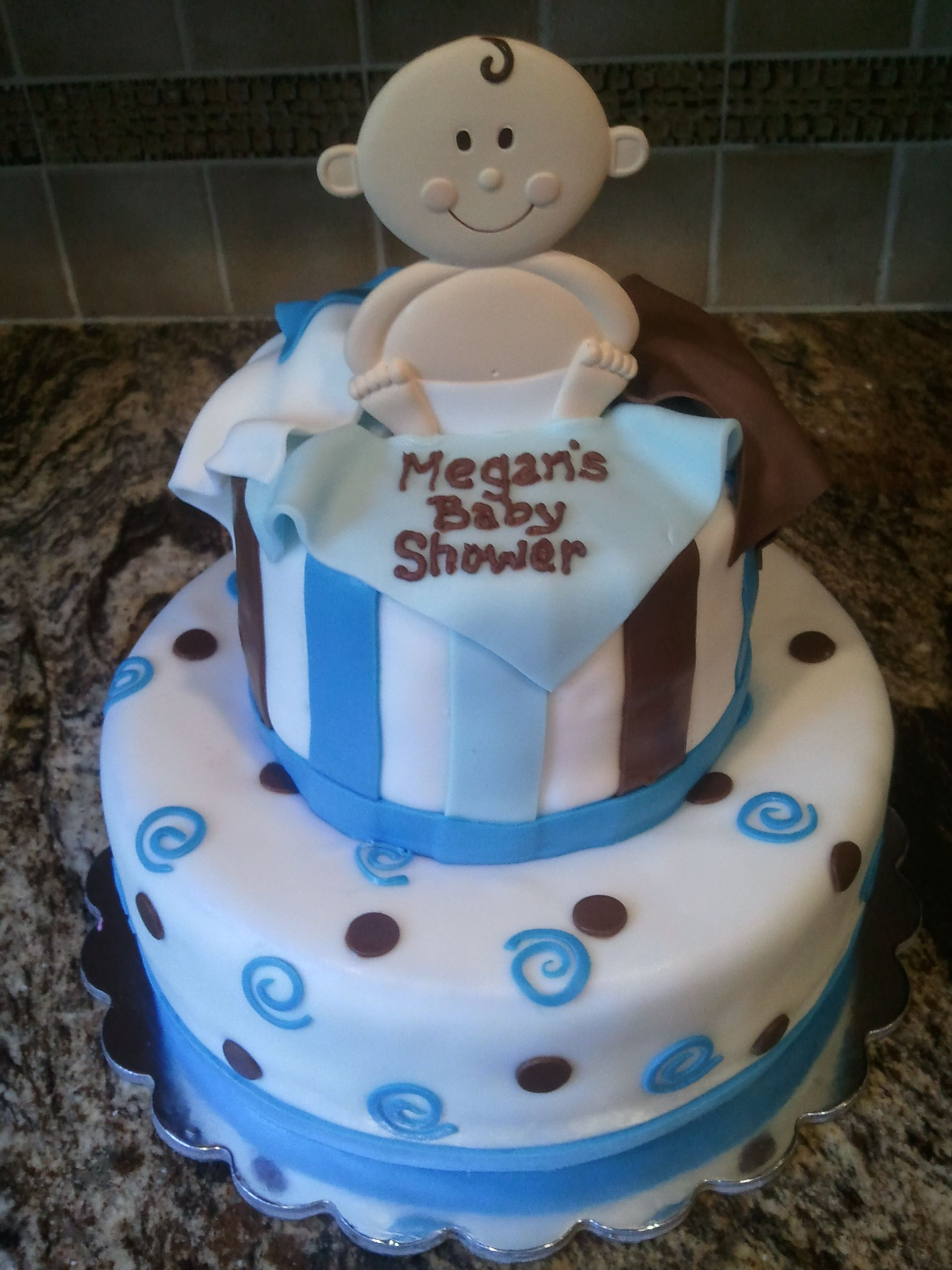baby shower cake with a wilton topper tips and tricks pinterest