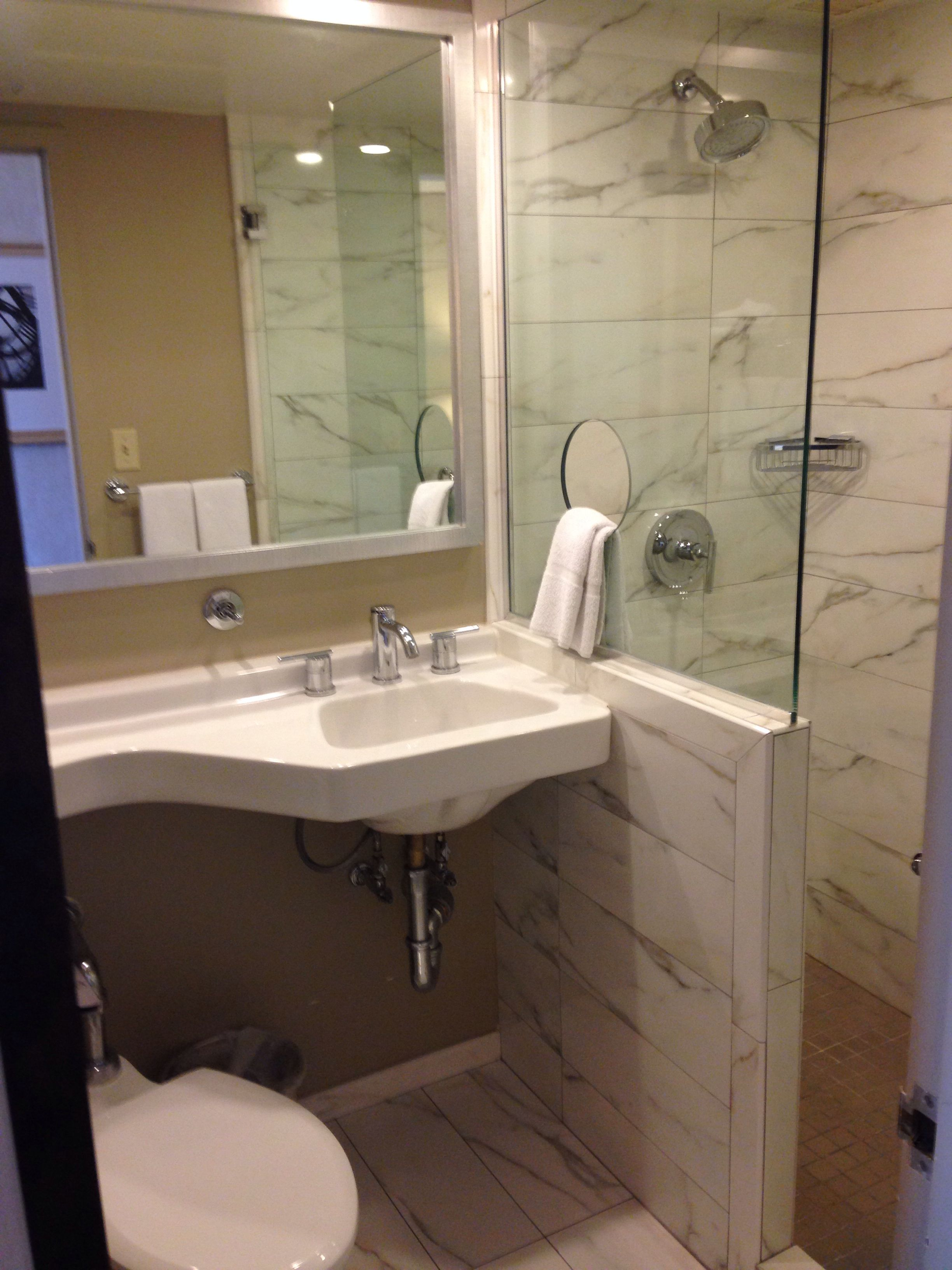 Open Small Bathroom Stand Up Shower Bedroom Bathroom Pinterest