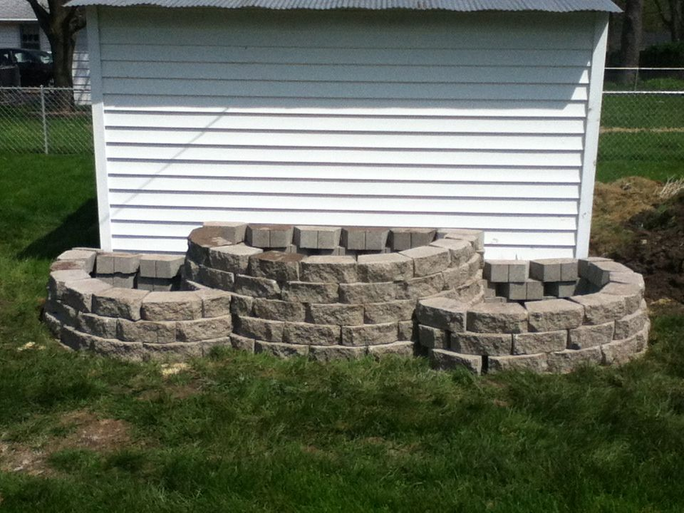 Retaining Wall Blocks From Menards : Pin by jana smith on outdoor garden ideas