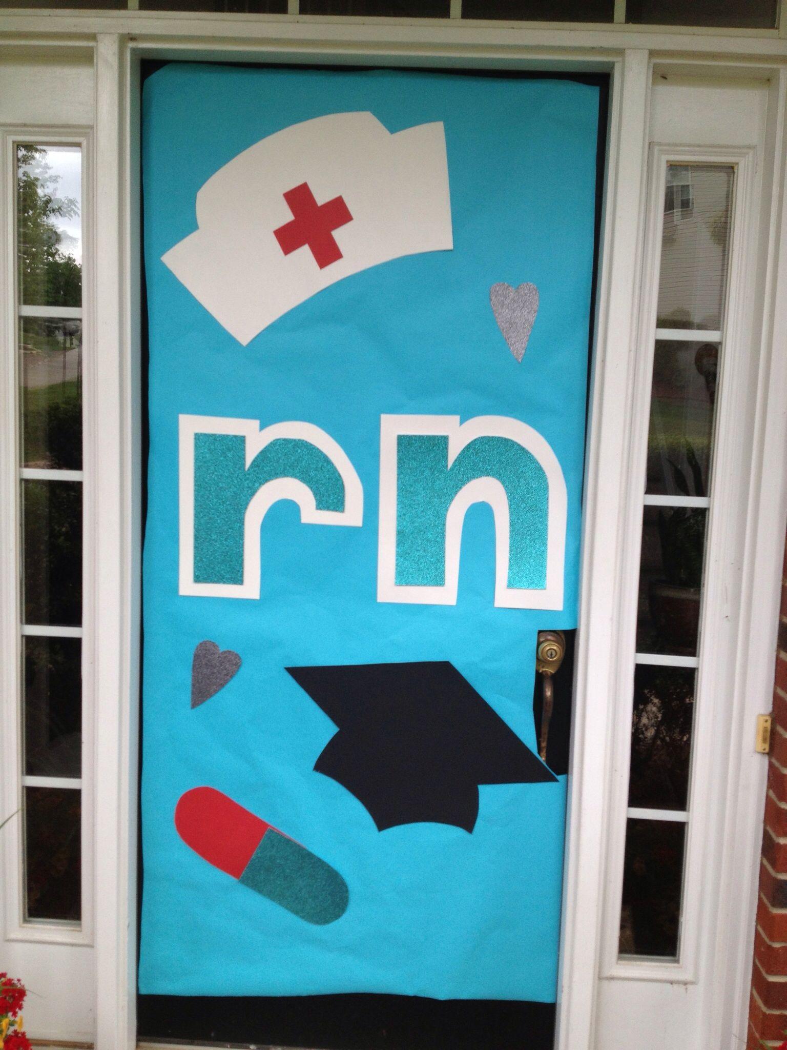 Door decorations nursing graduation nursing school grad for Nursing home door decorations