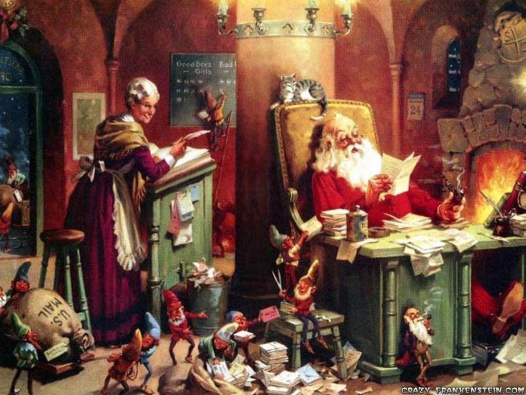 Santa workshop~ | Christmas Santa | Pinterest