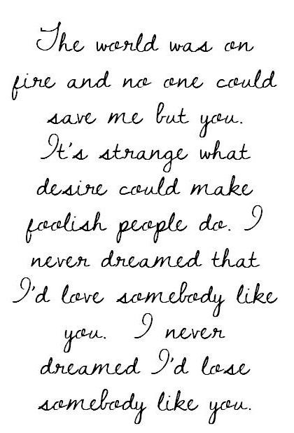 never dreamed could meet somebody like you lyrics