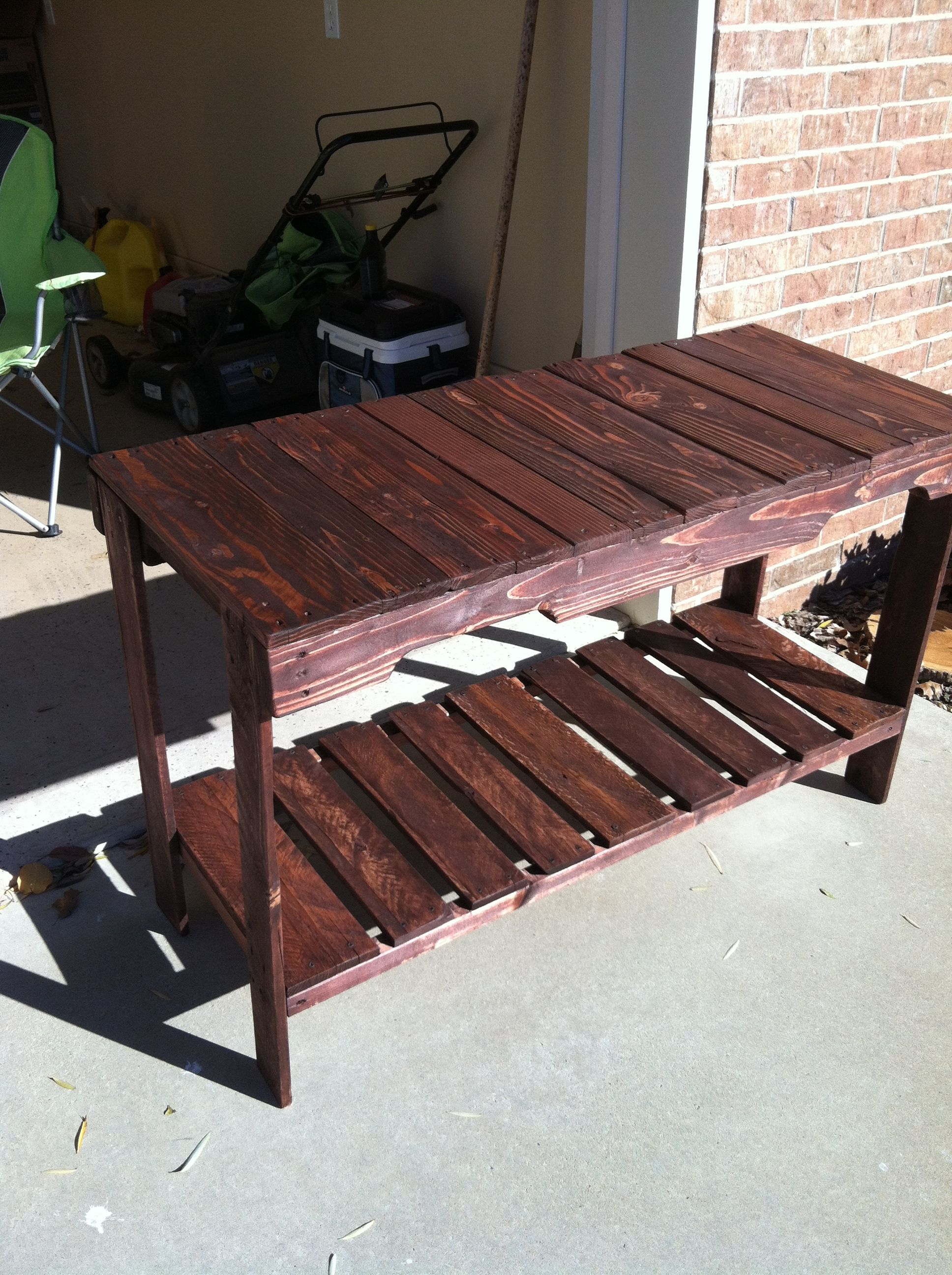 Cheap and Easy to Make Pallet Sofa Table | Pallets Designs