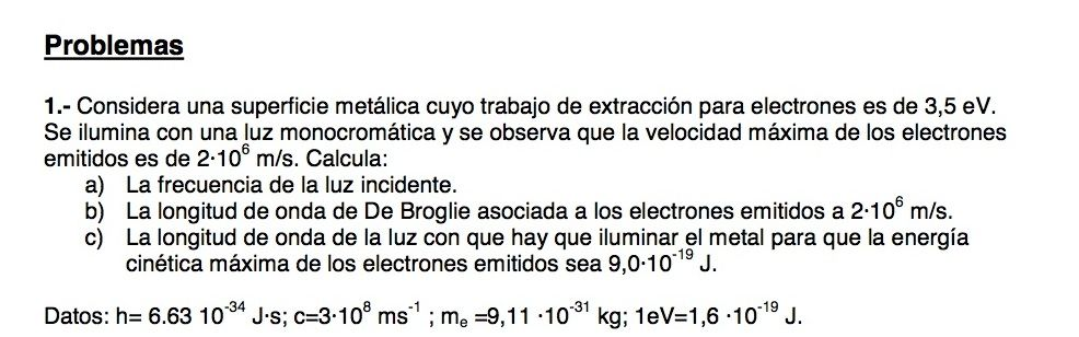 ejercicios de fisica moderna: