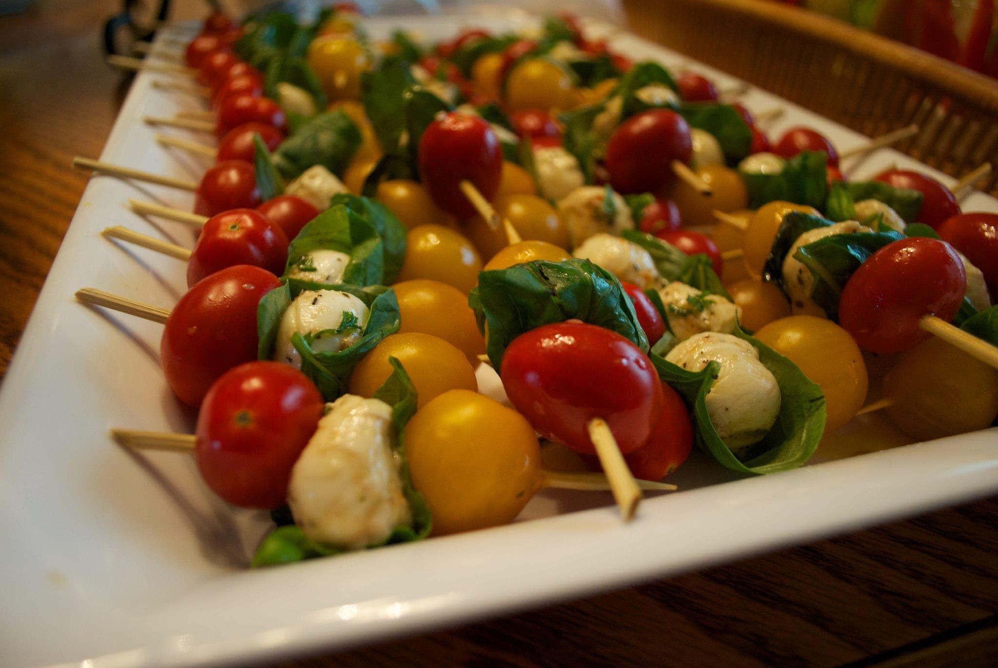 Mini caprese skewers. | Recipes! | Pinterest