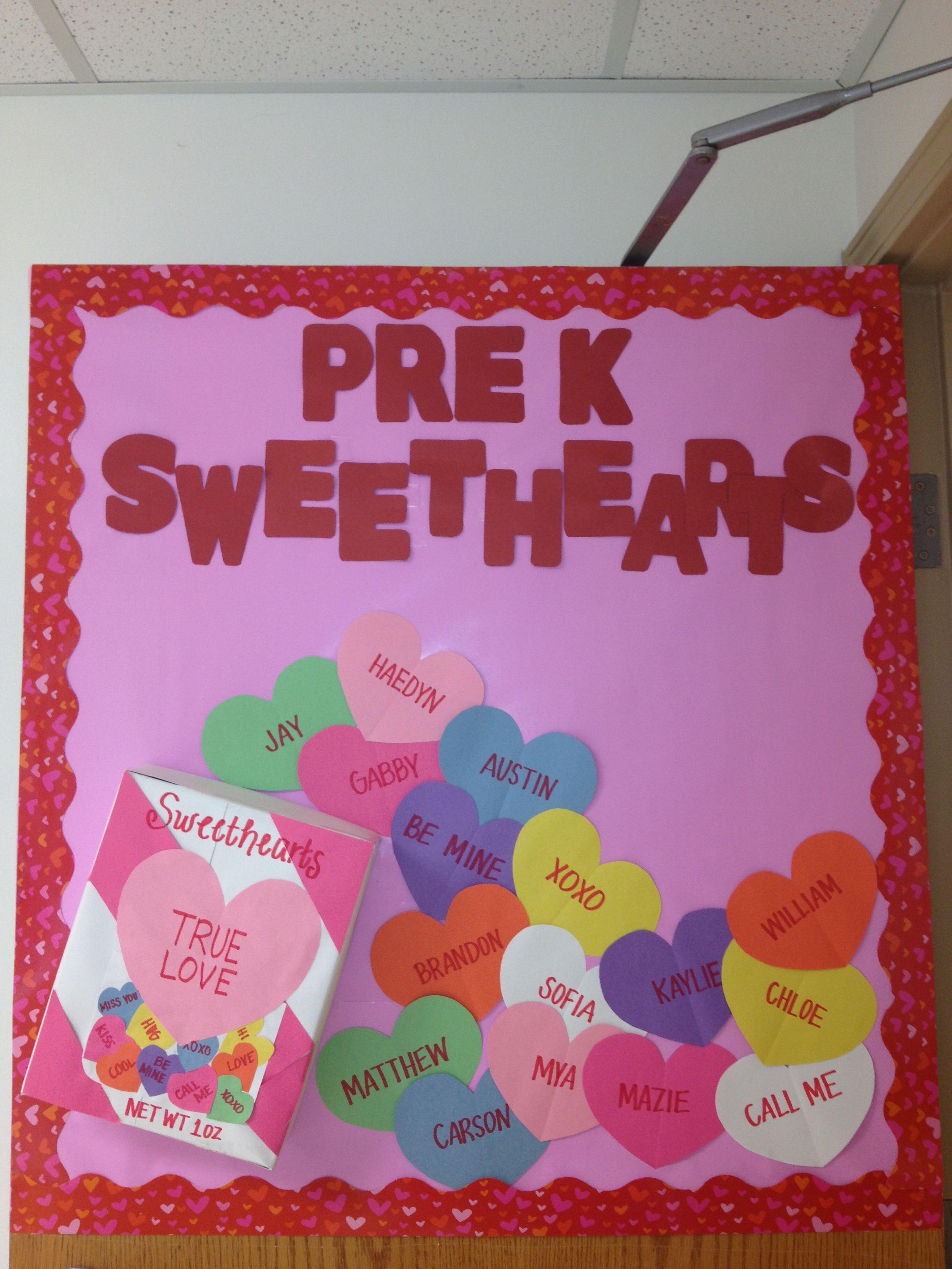 valentines day bulletin board pre-k