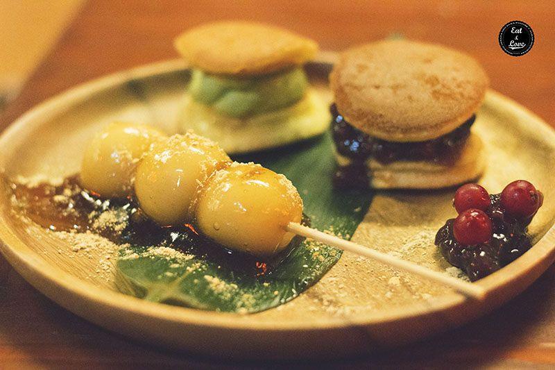Dorayaki y mitarashi dango - Izakaya Hattori Hanzo Madrid - restaurante japonés