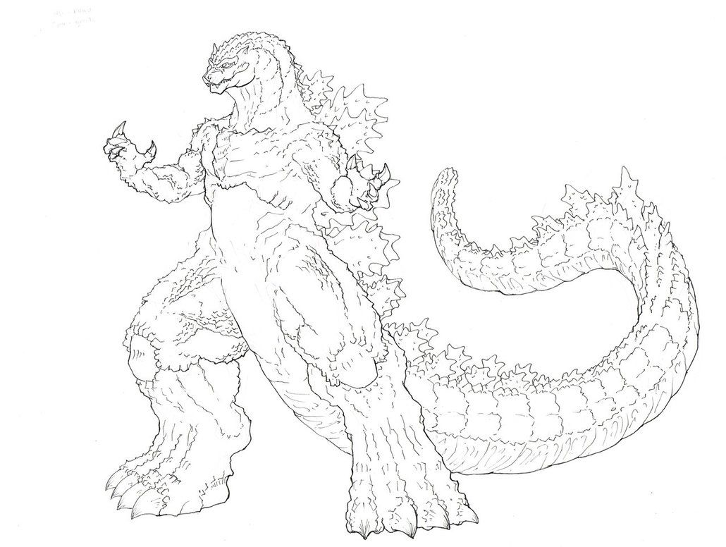 free coloring pages of godzilla colorear
