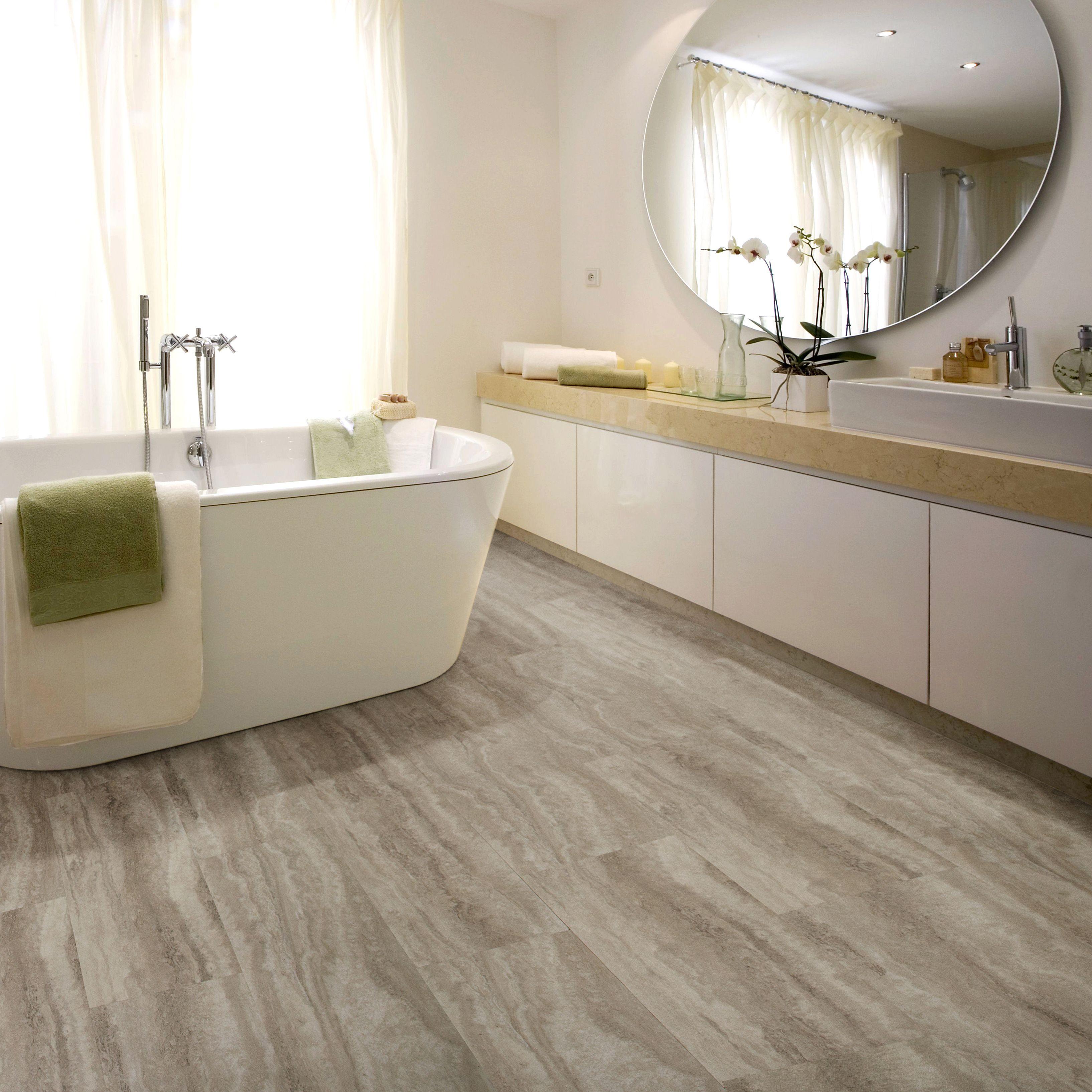 Plank tile flooring bathroom