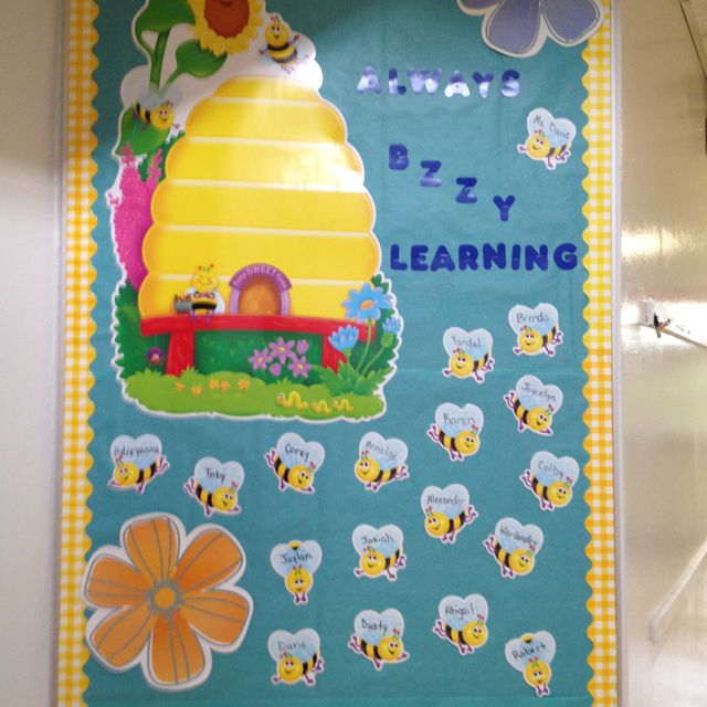 Classroom Theme Ideas Bees ~ Bee classroom welcome board decoration