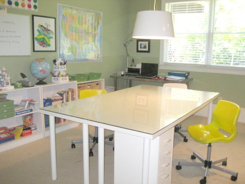 2 Ikea Tables Worktable Studio Craft Space Pinterest