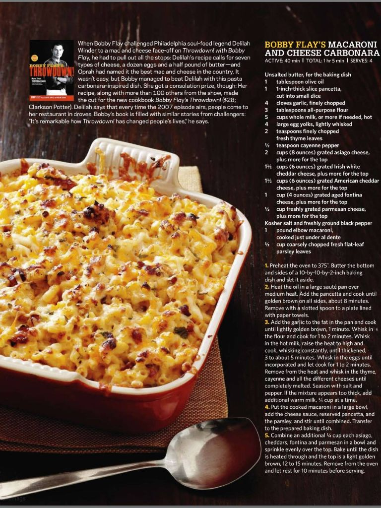 Mac and cheese carbonara | From magazines - Food | Pinterest