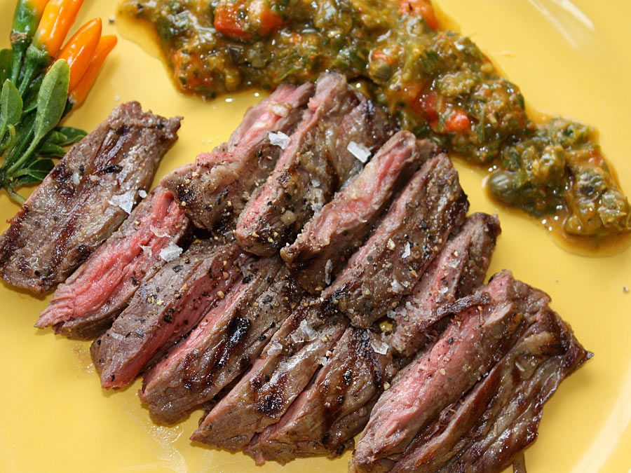 steak skirt steak with chimichurri sauce grilled skirt steak with ...