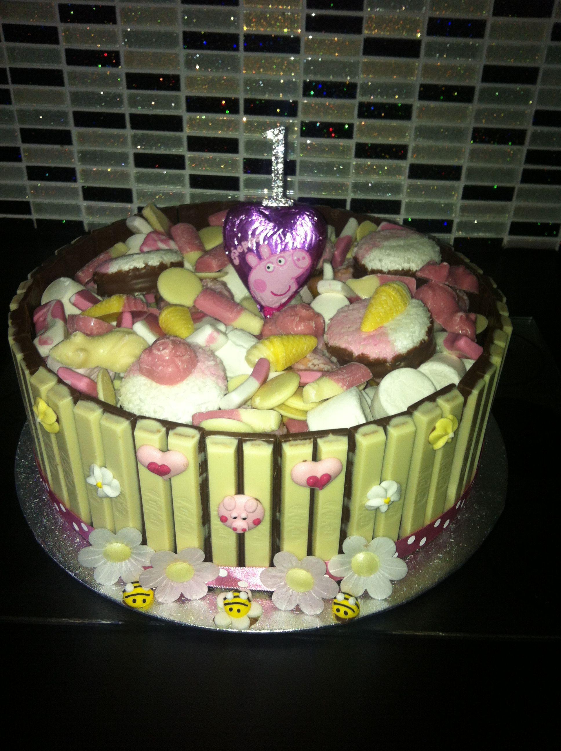 Kitkat cake - Peppa Pig inspired x | All things chocolate | Pinterest