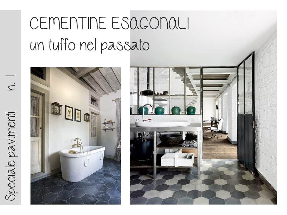 bagno Cementine disegno : Bagno Con Cementine : Bagno Con Cementine : http://www.vogliacasa.it ...