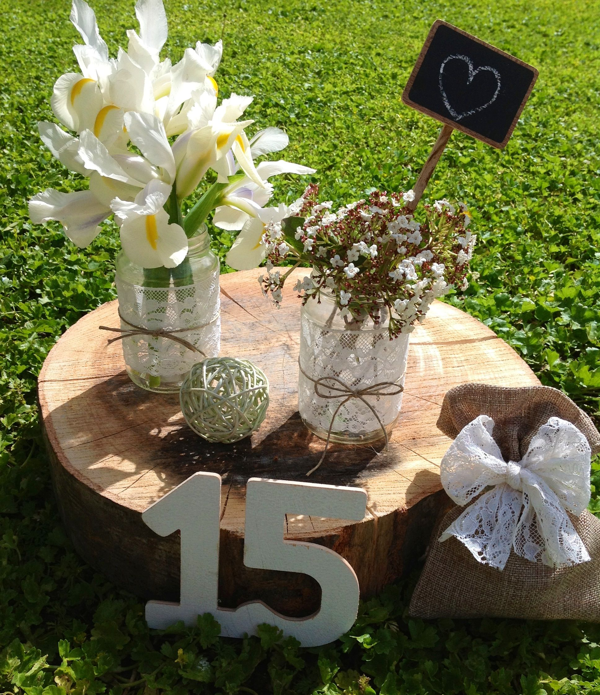 Country Wedding Centerpiece