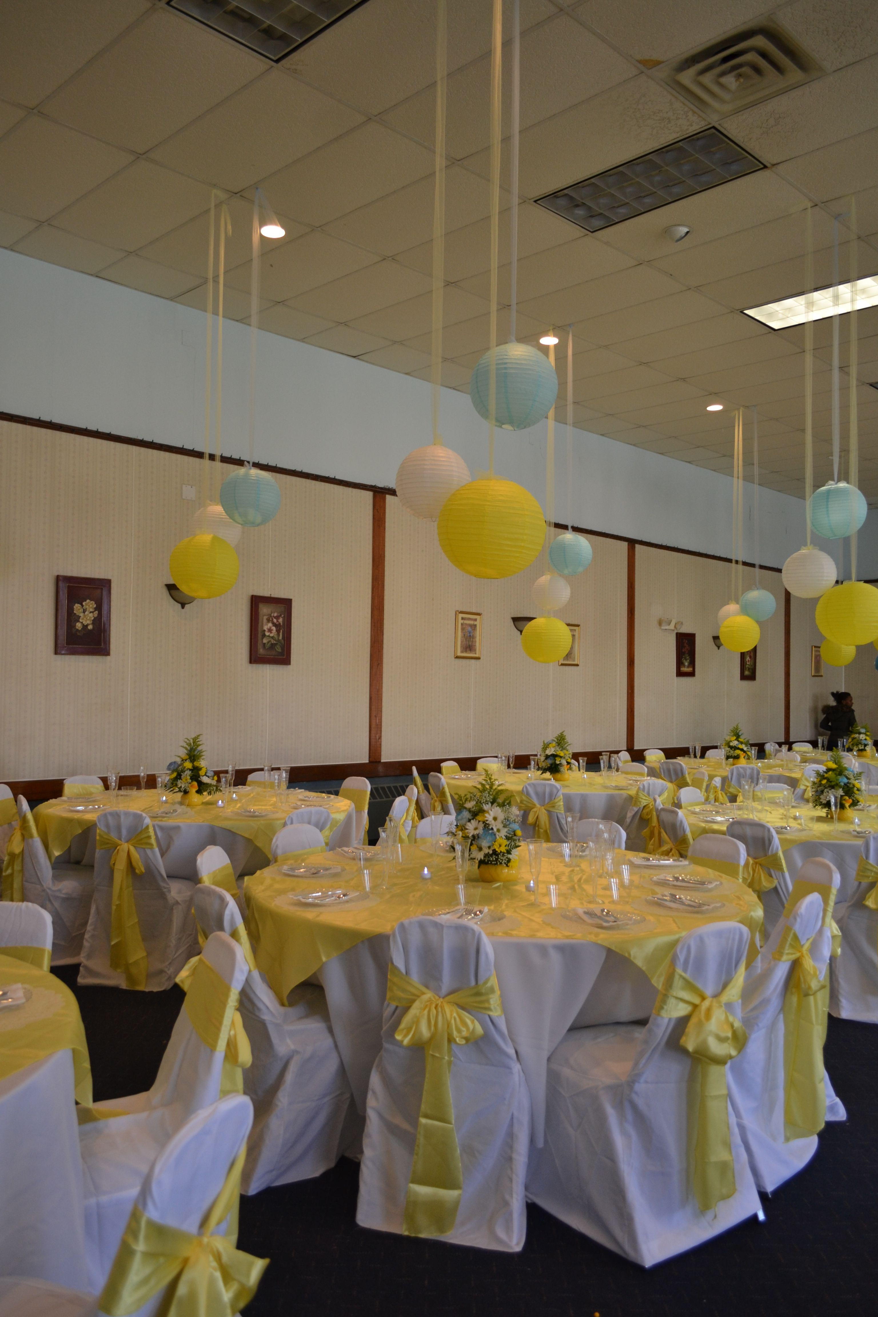 Baby shower over the rainbow parties party decoration for Baby shower party hall decoration ideas