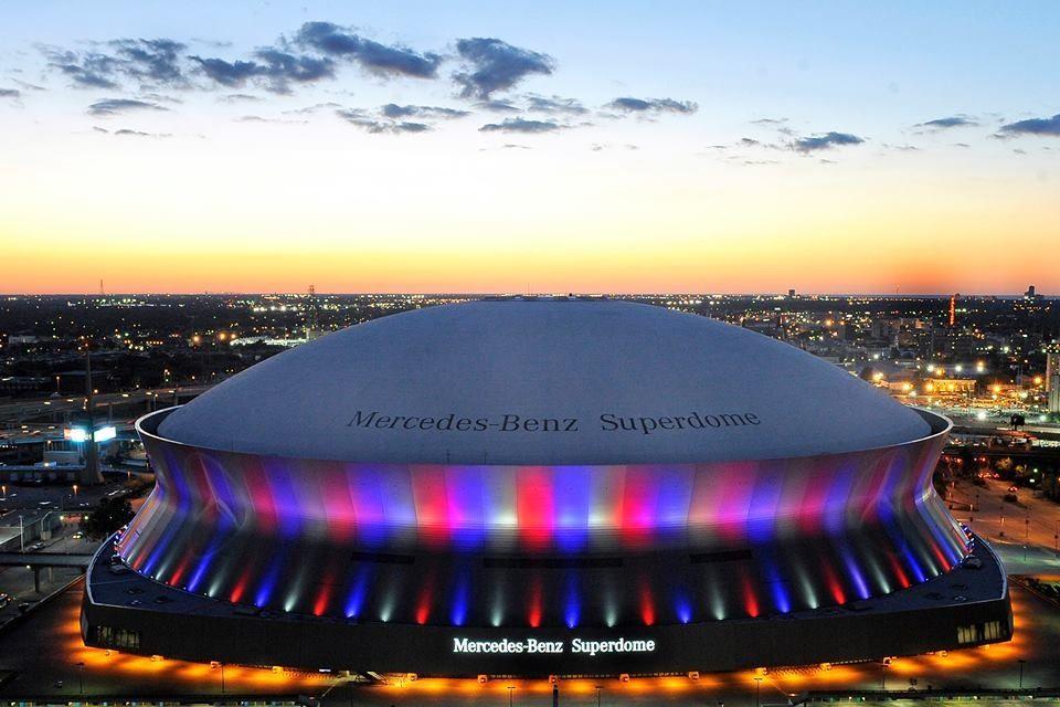 Mercedes benz superdome stadiums pinterest for Where is the mercedes benz superdome