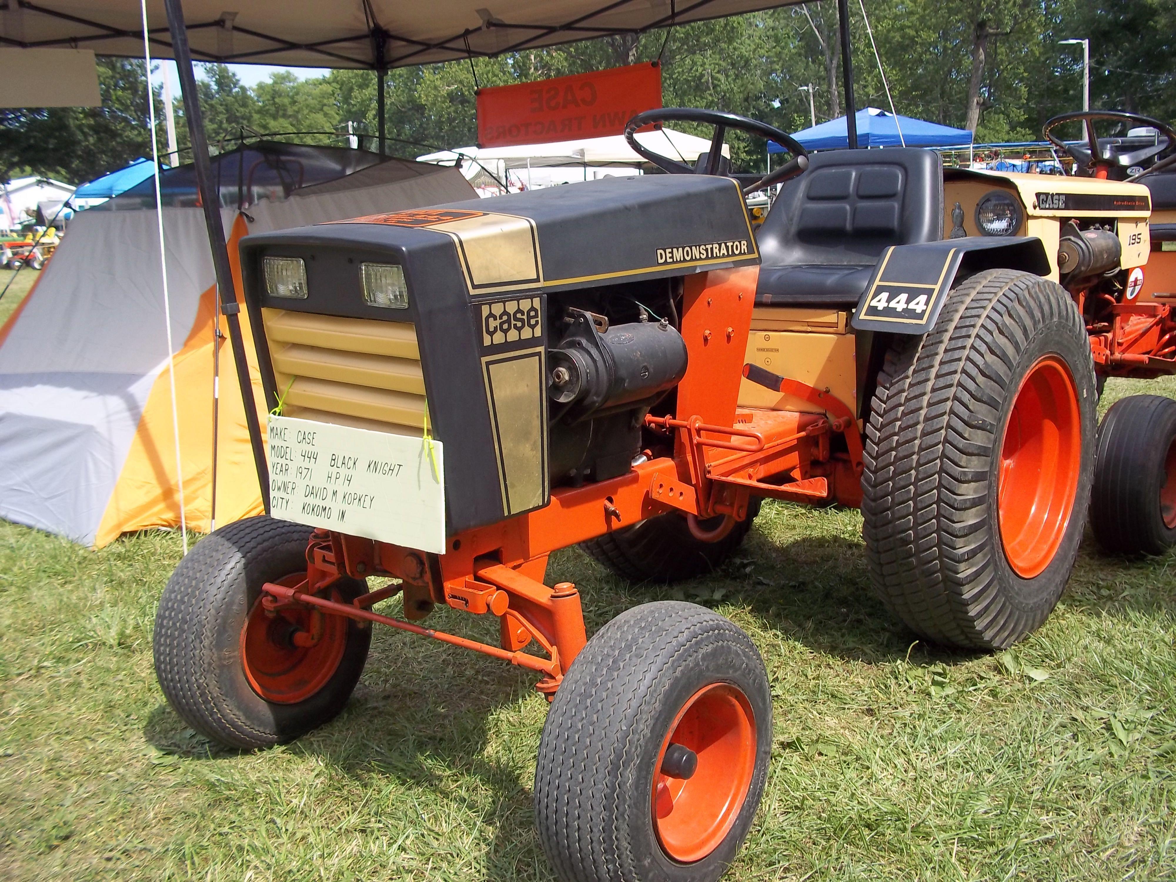 1970s case black knight garden tractor case equipment for Lawn garden equipment