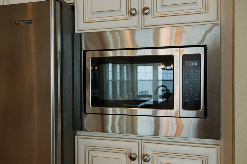 Pin by leeann cole on kitchen pinterest - Kitchenaid microwave with trim kit ...