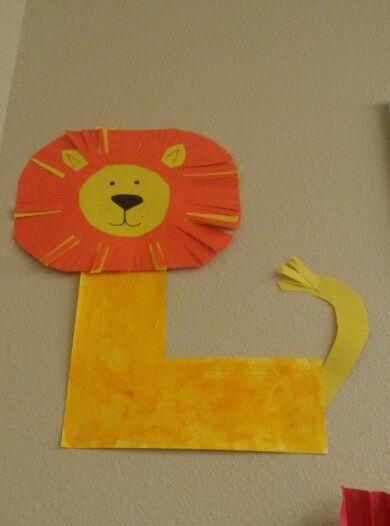 preschool letter l lion preschool craft ideas pinterest