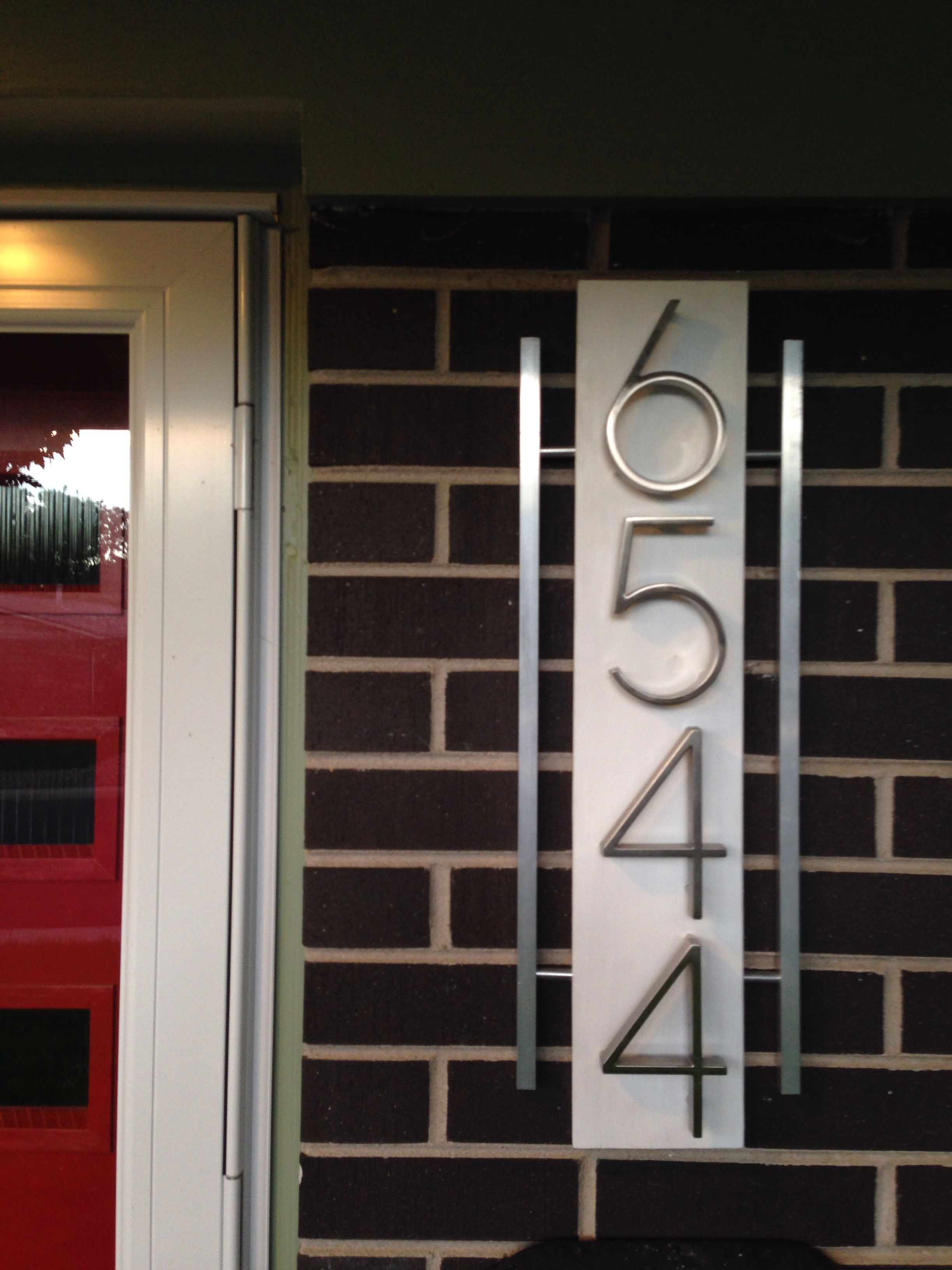 Mid Century Modern House Numbers. Second-sun.co