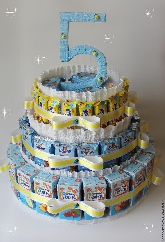 Торт из сока и барни своими руками пошаговое фото для начинающих