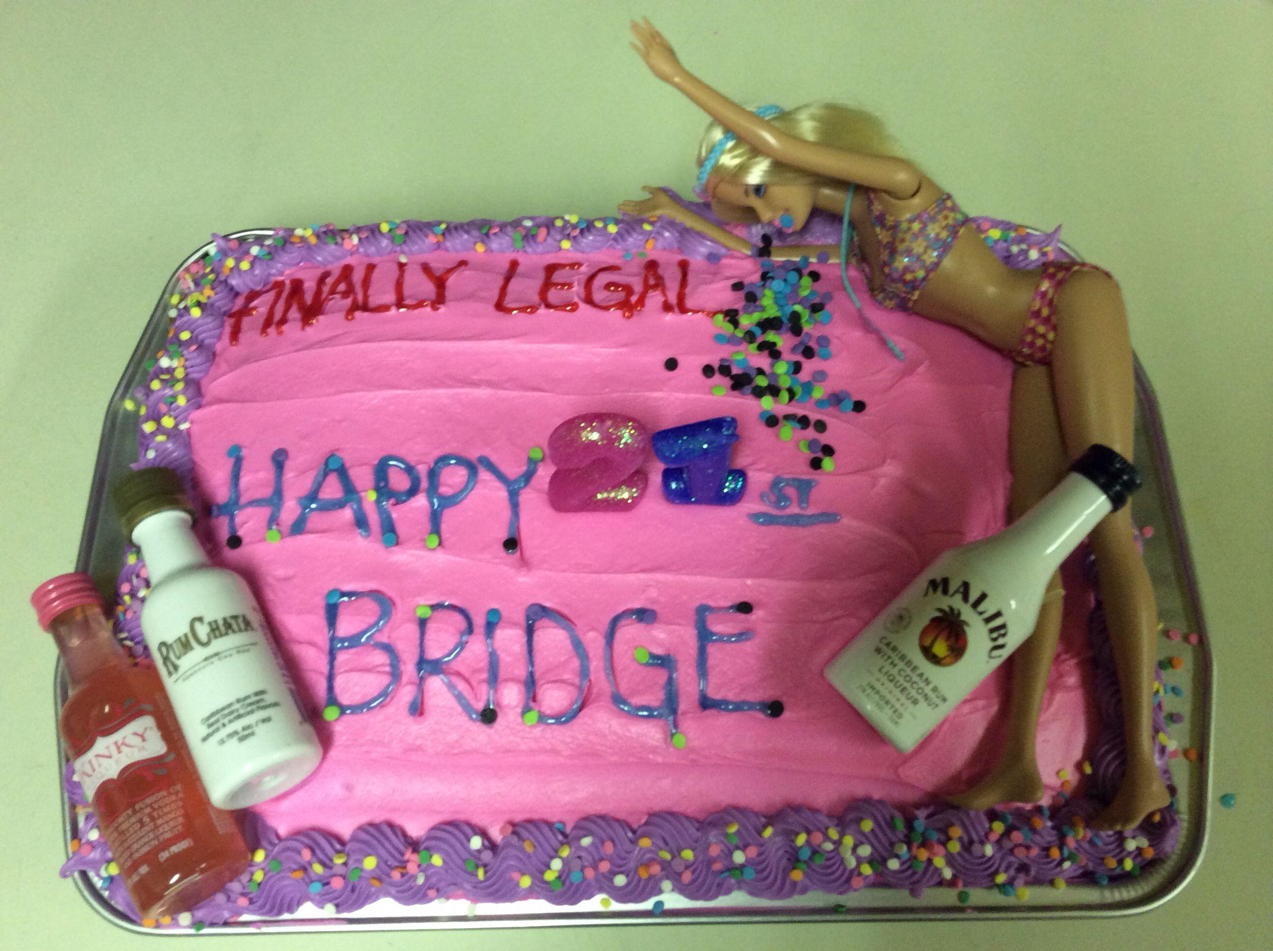 Drunken barbie birthday cake ideas and designs