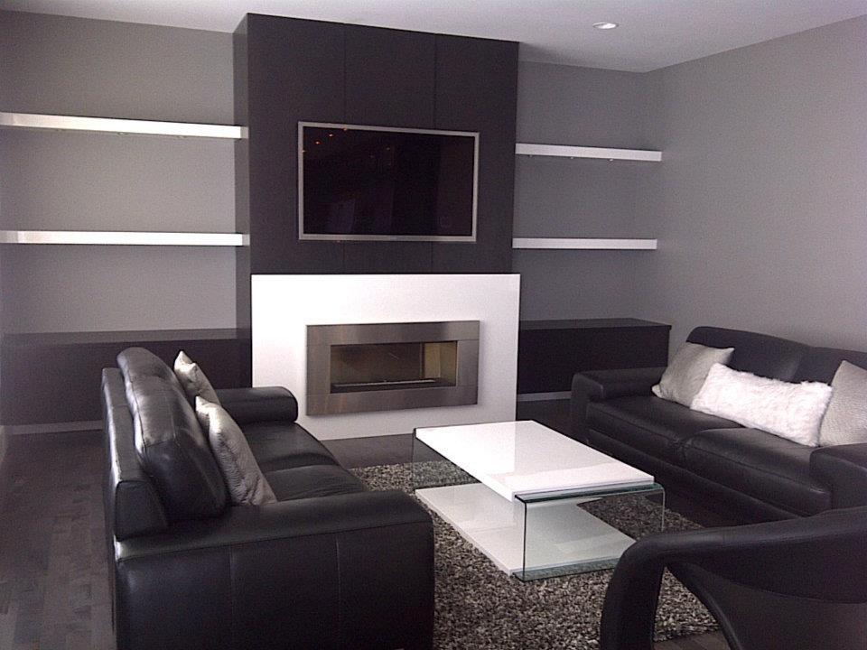Modern fireplace wall kitchen ideas pinterest for Modern fireplace wall