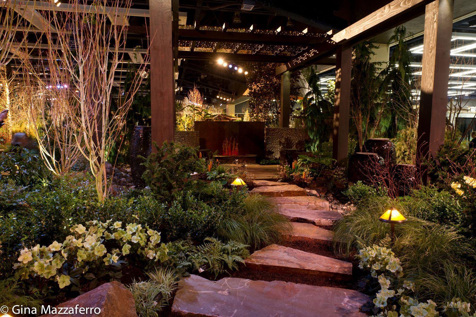 Backyard retreat garden therapy pinterest for Display home garden designs