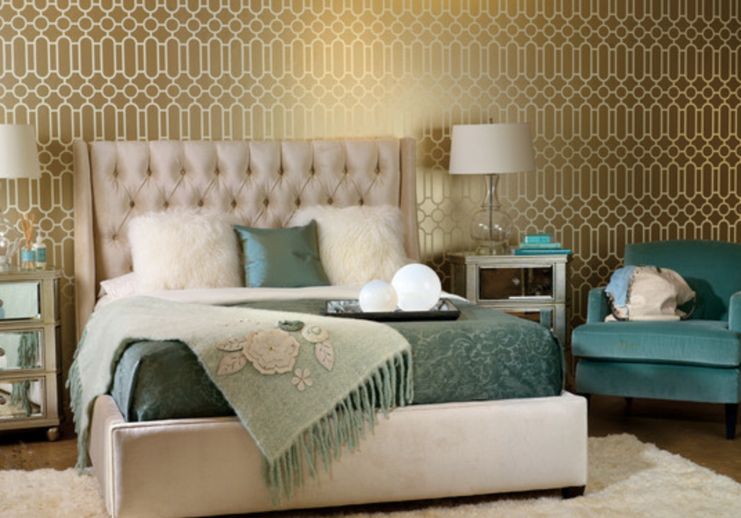 teal beige and gold bedroom pinterest