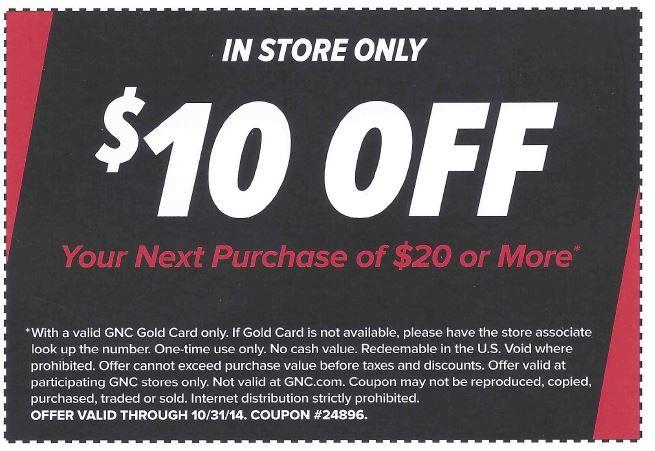 Gnc coupon codes $10 off