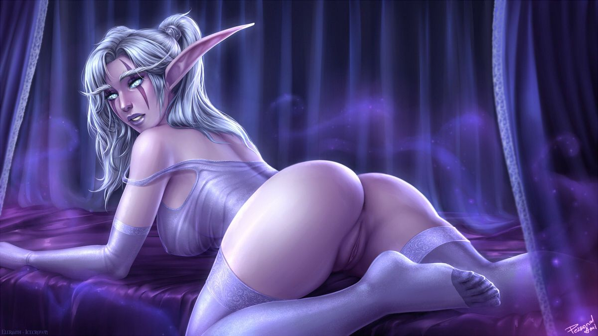 Nude night elf drawing hentai scenes