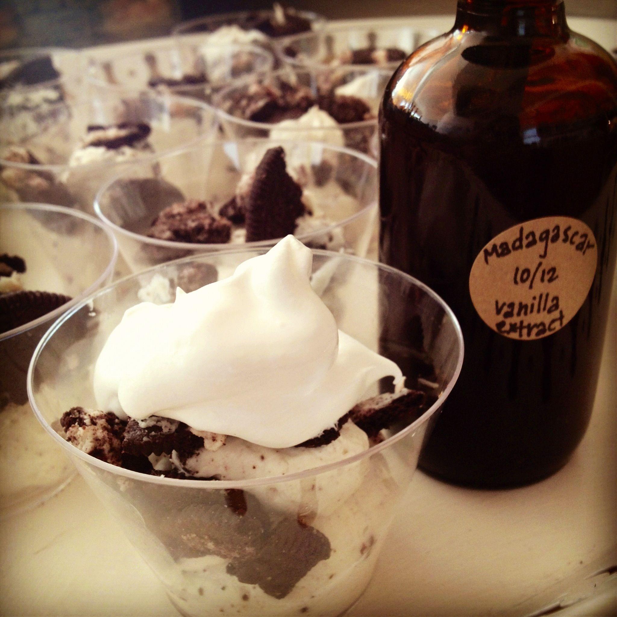 Mini mint-chocolate no bake cheesecakes | Favorite Recipes | Pinterest