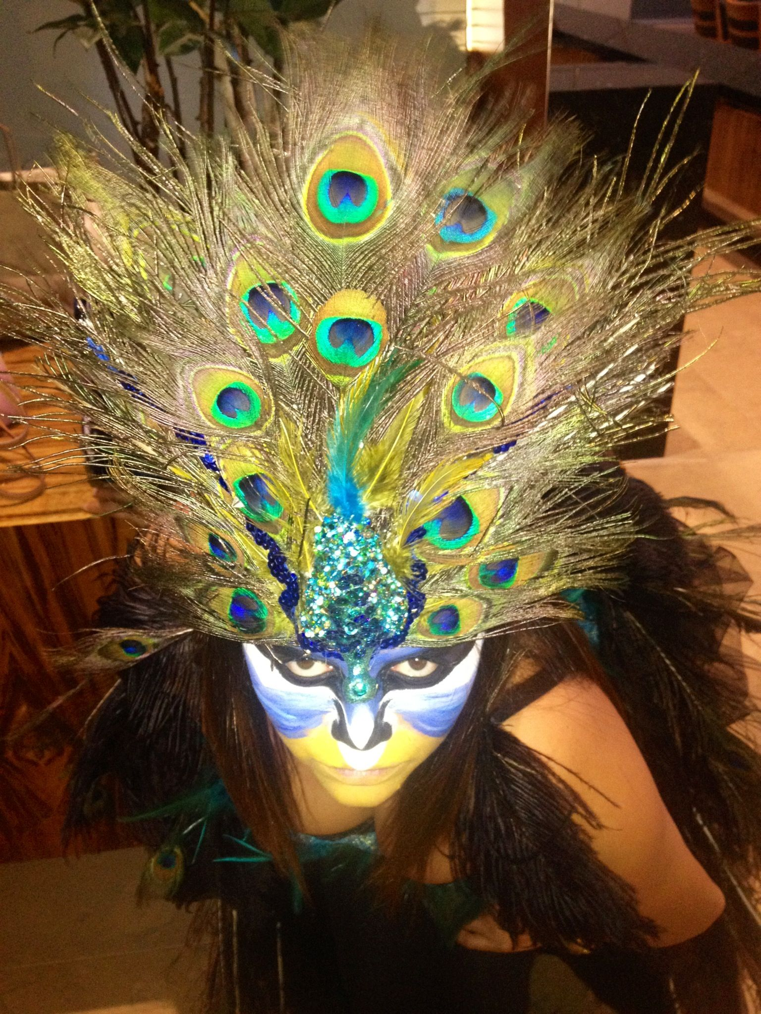 peacock makeup / fantasy / Halloween   Peacock Costume ... Peacock Fantasy Makeup