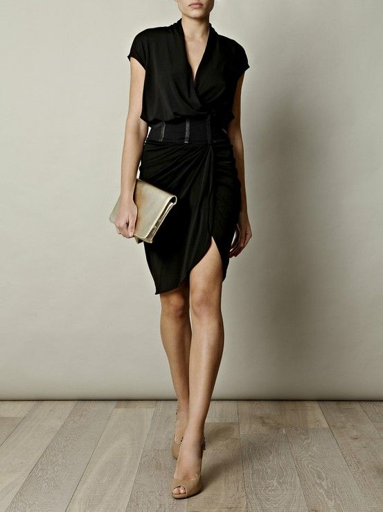 black dress nude shoes
