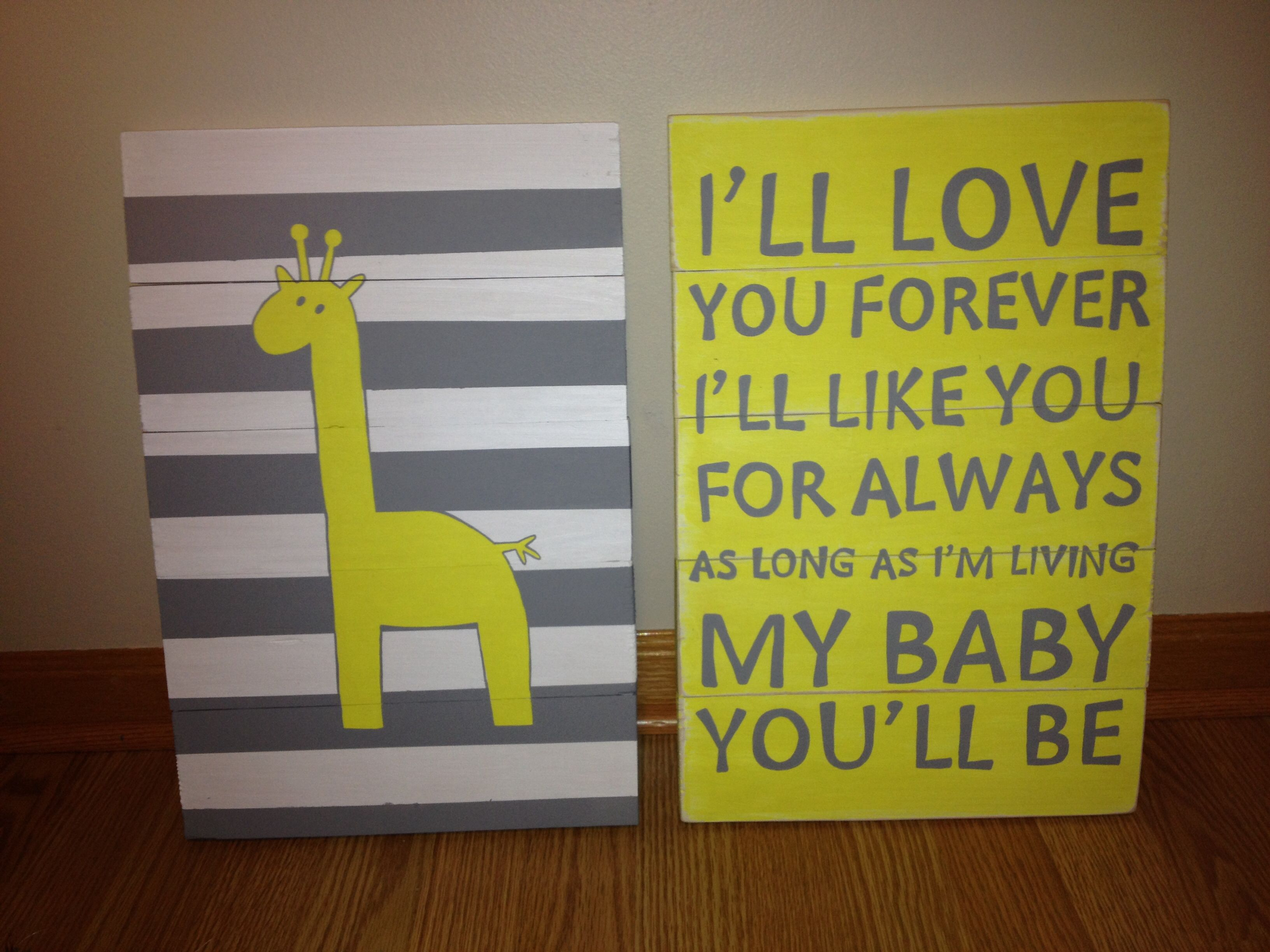 Gray And Yellow Nursery DIY Wooden Wall Art Pinterest