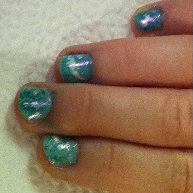 Ocean Scene Little Girl Nails My Nail Art Designs Pinterest