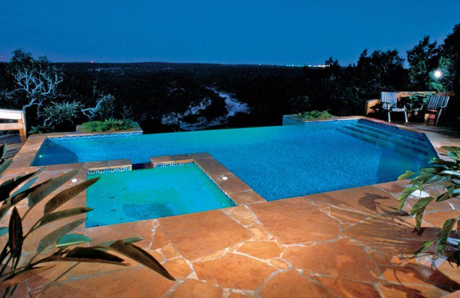 super cool infinity edge swimming pool pools and