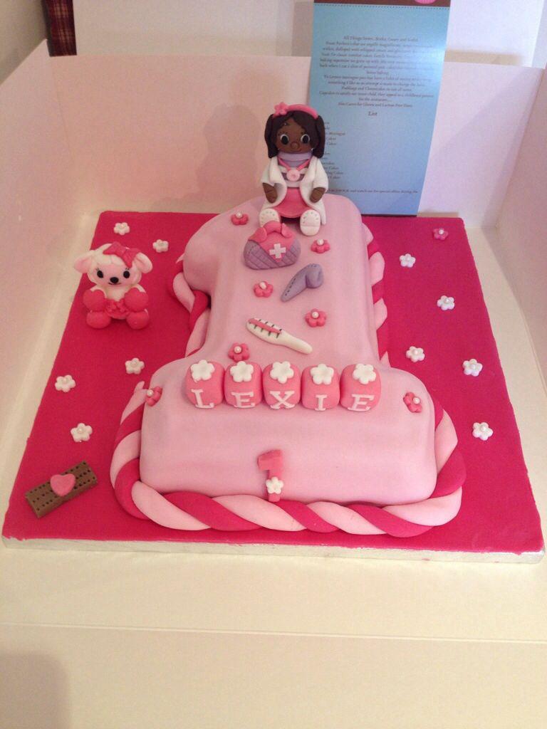 doc mcstuffins 1st birthday cake