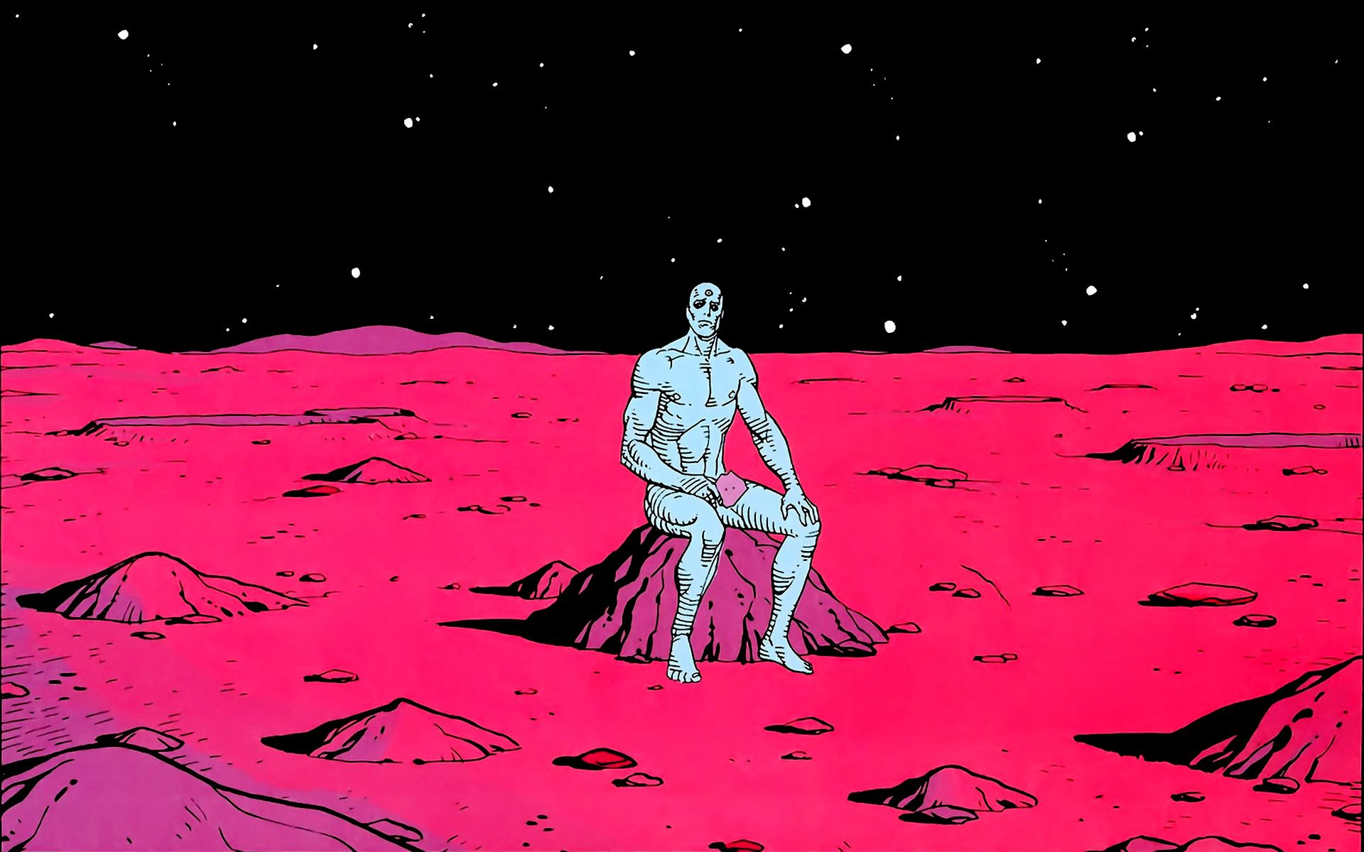 Dr. Manhattan on Mars | Comics | Pinterest