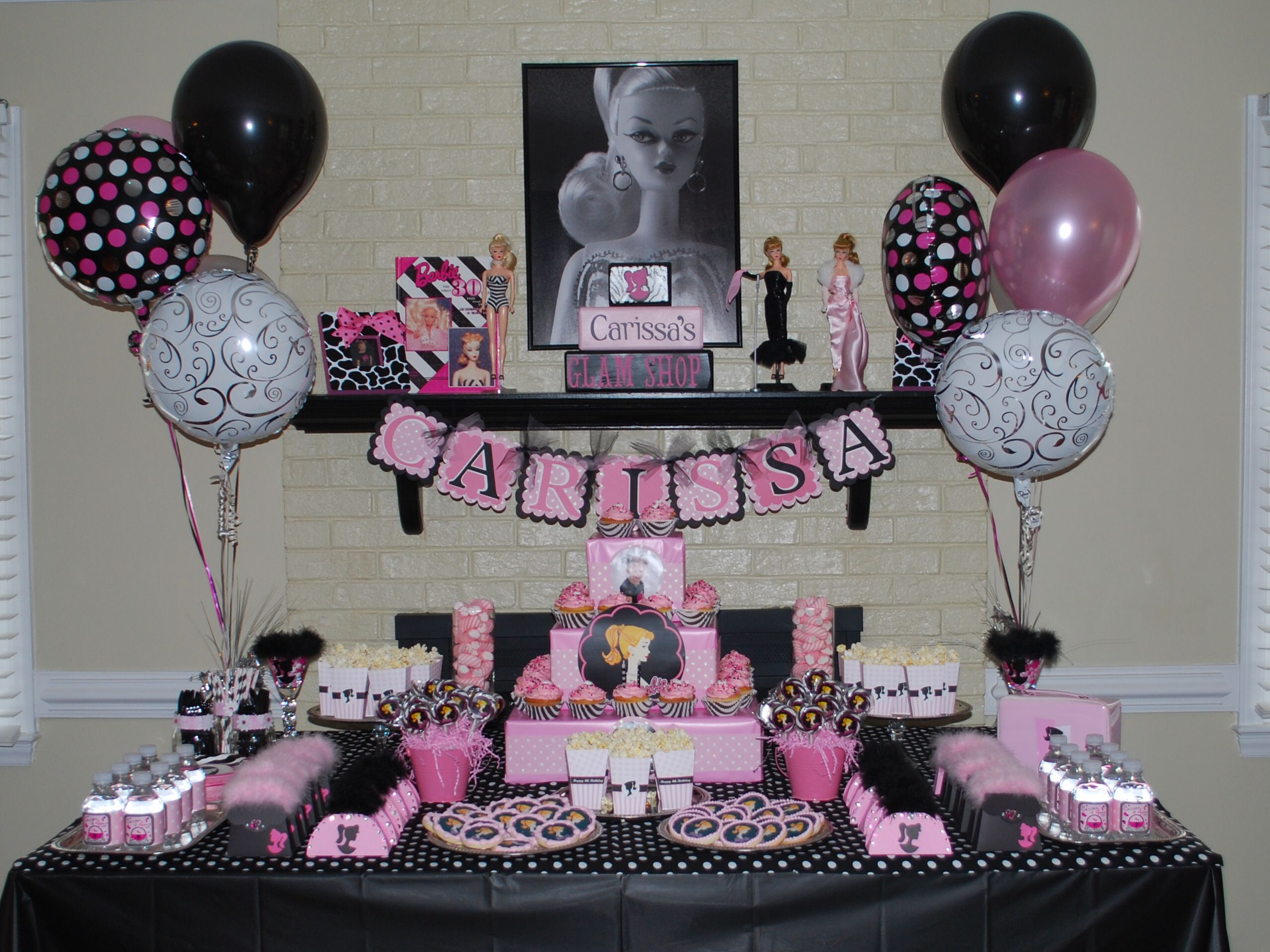 Barbie party party planning ideas pinterest for Decoration barbie